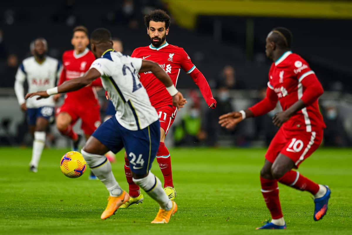 LONDON, ENGLAND - Thursday, January 28, 2021: Liverpool's Mohamed Salah during the FA Premier League match between Tottenham Hotspur FC and Liverpool FC at the Tottenham Hotspur Stadium. (Pic by Propaganda)