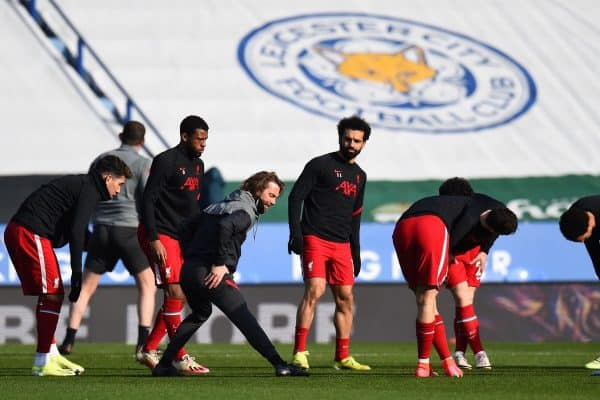 LEICESTER, ENGLAND - Saturday, February 13, 2021: Liverpool's Sadio Mané during the pre-match warm-up before the FA Premier League match between Leicester City FC and Liverpool FC at the King Power Stadium. (Pic by Propaganda)