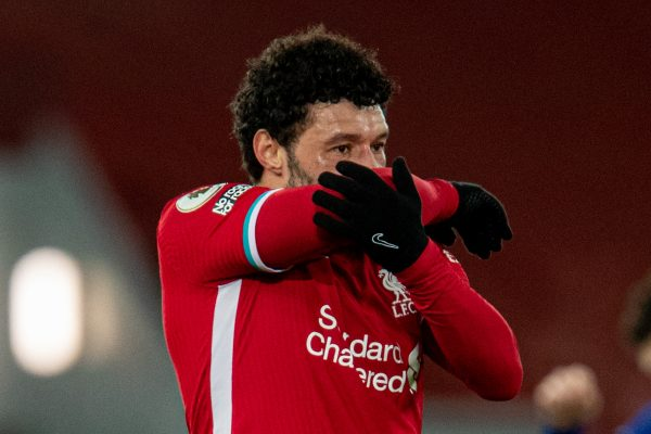 LIVERPOOL, ENGLAND - Thursday, March 4, 2021: Liverpool's Alex Oxlade-Chamberlain looks dejected at the final whistle during the FA Premier League match between Liverpool FC and Chelsea FC at Anfield. Chelsea won 1-0 condeming Liverpool to their fifth home defeat on the run.(Pic by David Rawcliffe/Propaganda)