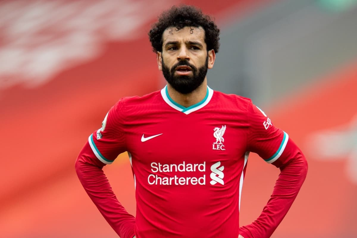 LIVERPOOL, ENGLAND - Sunday, March 7, 2021: Liverpool's Mohamed Salah during the FA Premier League match between Liverpool FC and Fulham FC at Anfield. (Pic by David Rawcliffe/Propaganda)