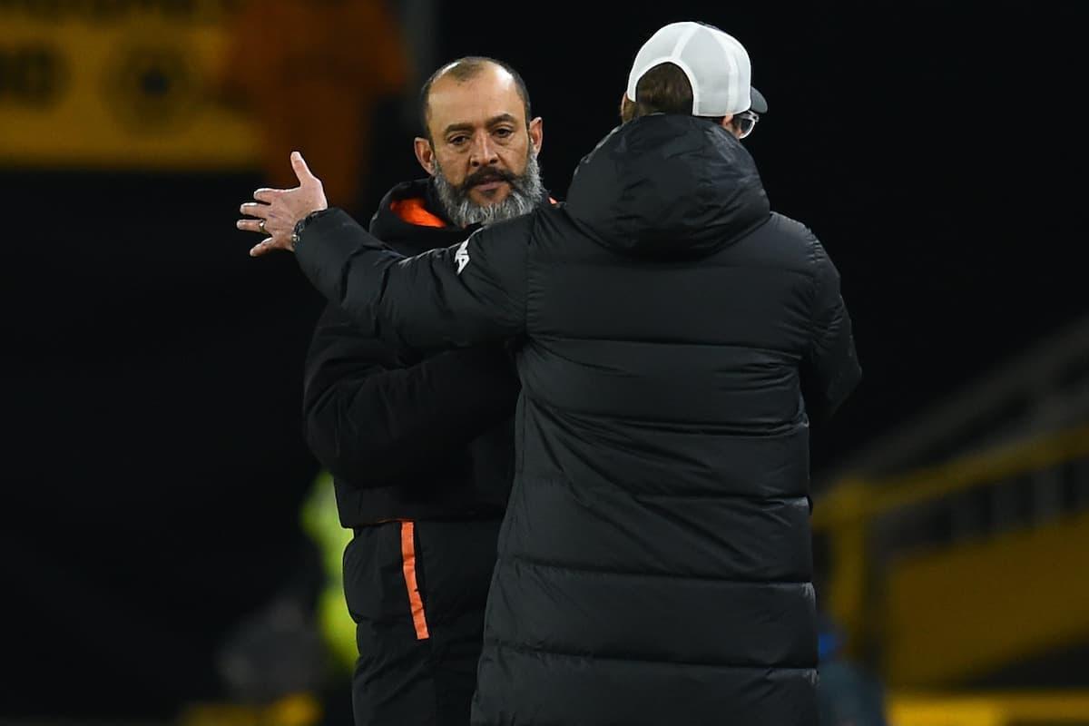 Nuno's good news on Patricio as Klopp praises Jota goal
