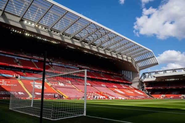 LIVERPOOL, ENGLAND - Saturday, April 10, 2021: A general view of Anfield before the FA Premier League match between Liverpool FC and Aston Villa FC. (Pic by David Rawcliffe/Propaganda)