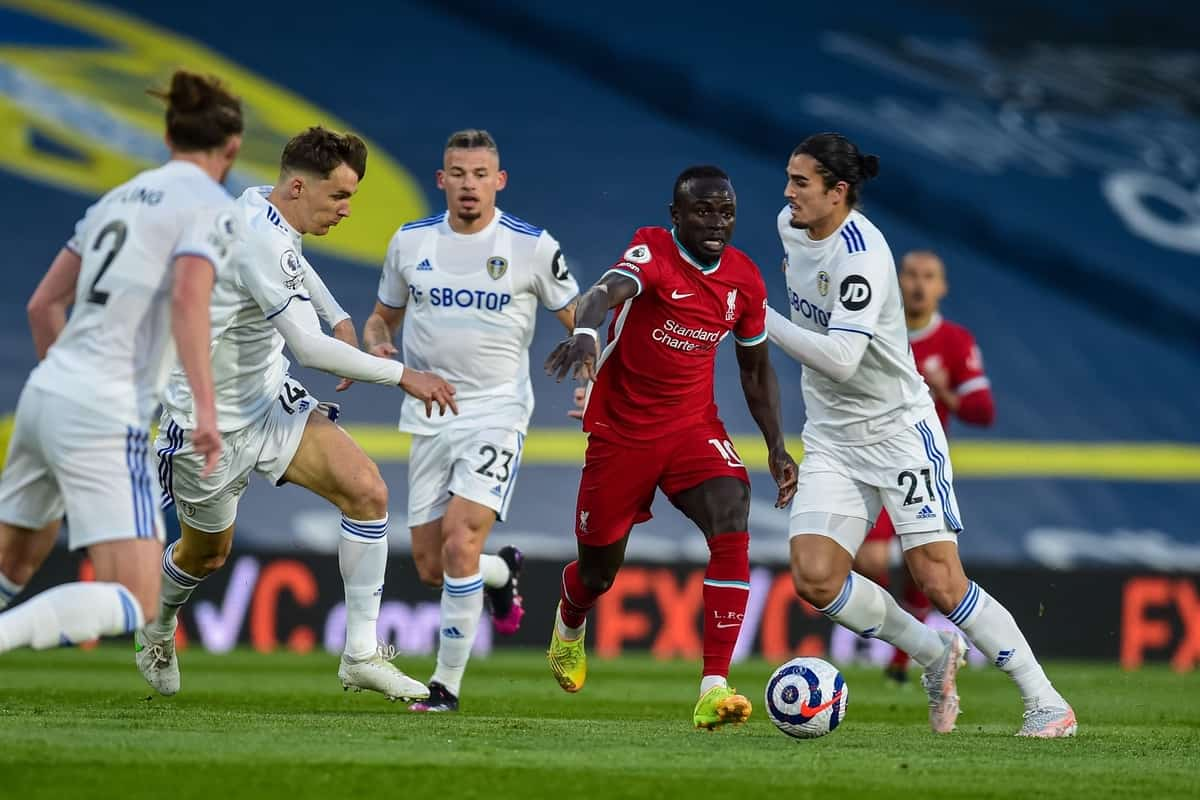 LEEDS, ENGLAND - Monday, April 19, 2021: Liverpool's Sadio Mané during the FA Premier League match between Leeds United FC and Liverpool FC at Elland Road. (Pic by Propaganda)