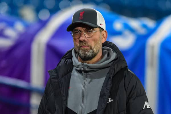 LEEDS, ENGLAND - Monday, April 19, 2021: Liverpool's manager Jürgen Klopp after the FA Premier League match between Leeds United FC and Liverpool FC at Elland Road. The game ended in a 1-1 draw. (Pic by Propaganda)
