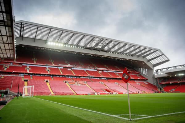 LIVERPOOL, ENGLAND - Sunday, August 8, 2021: A general view of Anfield before a pre-season friendly match between Liverpool FC and Athletic Club de Bilbao at Anfield. (Pic by David Rawcliffe/Propaganda)