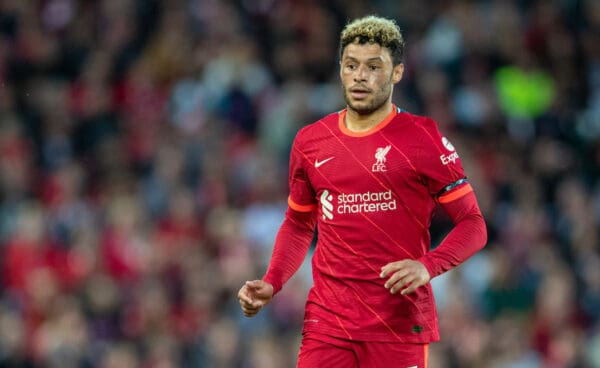 LIVERPOOL, ENGLAND - Monday 9 August 2021: Liverpool's Alex Oxlade-Chamberlain during a pre-season friendly match between Liverpool FC and Club Atlético Osasuna on Anfield.  (Image by David Rawcliffe / Propaganda)