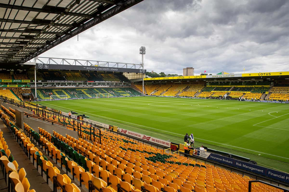 NORWICH, ENGLAND - Saturday, August 14, 2021: A general view before the FA Premier League match between Norwich City FC and Liverpool FC at Carrow Road. (Pic by David Rawcliffe/Propaganda)