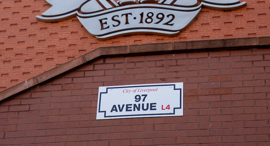 LIVERPOOL, ENGLAND - Friday, August 20, 2021: The renamed 97 Avenue at Anfield. Formerly 96 Avenue it was renamed following the death of Liverpools supporter Andrew Devine who became the 97th victim of the Hillsborough Stadium Disaster. (Pic by David Rawcliffe/Propaganda)