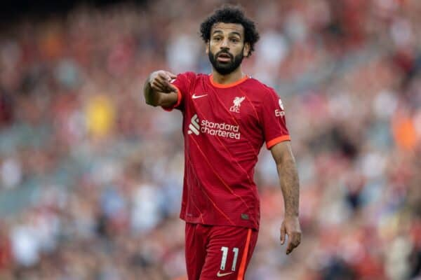 Liverpool's Mohamed Salah during the FA Premier League match between Liverpool FC and Chelsea FC at Anfield. (Pic by David Rawcliffe/Propaganda)