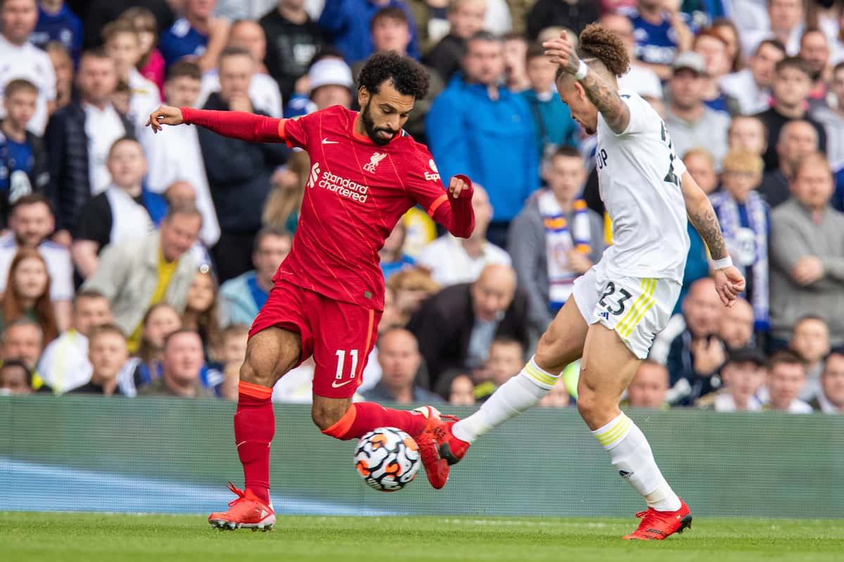 LEEDS, ENGLAND - Sunday, September 12, 2021: Liverpool's Mohamed Salah during the FA Premier League match between Leeds United FC and Liverpool FC at Elland Road. (Pic by David Rawcliffe/Propaganda)