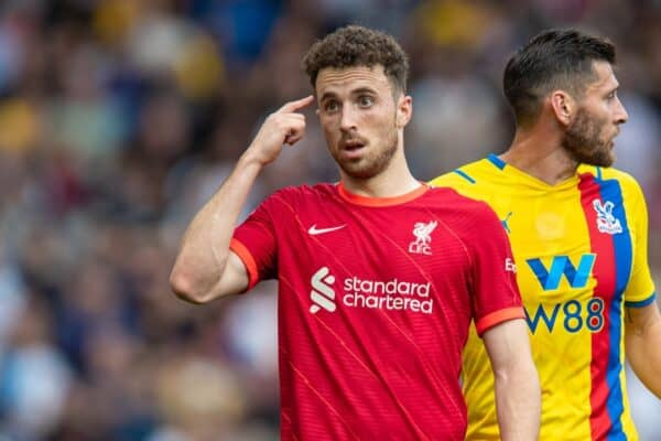 Liverpool's Kostas Tsimikas during the FA Premier League match between Liverpool FC and Crystal Palace FC at Anfield. (Pic by David Rawcliffe/Propaganda)
