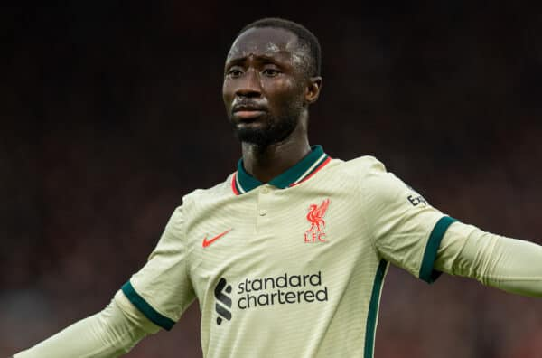 MANCHESTER, ENGLAND - Sunday, October 24, 2021: Liverpool's Naby Keita during the FA Premier League match between Manchester United FC and Liverpool FC at Old Trafford. (Pic by David Rawcliffe/Propaganda)