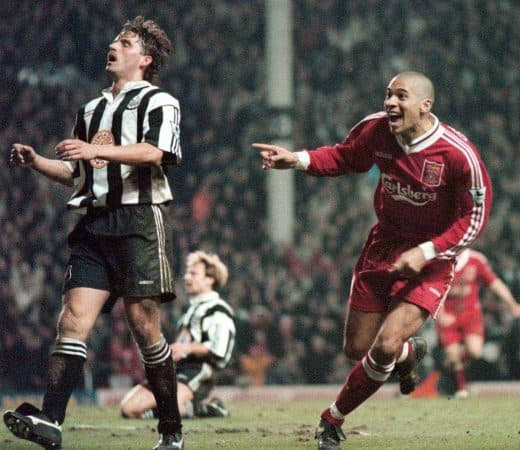Stan Collymore, Liverpool 4-3 Newcastle, 1996 (Picture by: David Kendall / PA Archive/Press Association Images)