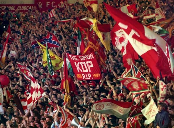 The Kop, vs Norwich, 1994 Last Stand (Pic: PA Images)