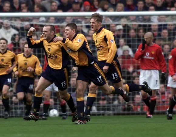 Danny Murphy, goal, Old Trafford, Man United, 2000 ( Phil Noble/PA Archive/PA Images)
