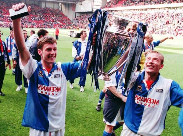 Shearer, Sutton, Anfield, Blackburn, title win 1995 (John Giles/PA Archive/PA Images)
