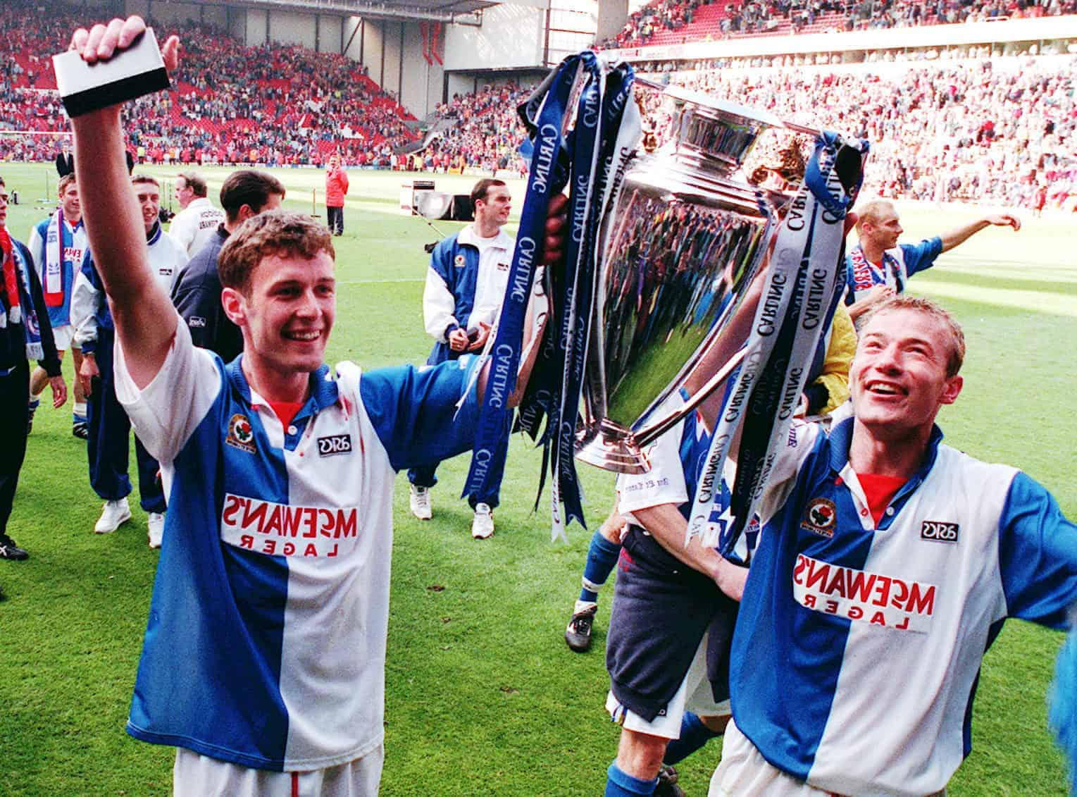 Shearer, Sutton, Anfield, Blackburn, title win 1995 (John Giles/PA Archive/PA Images)