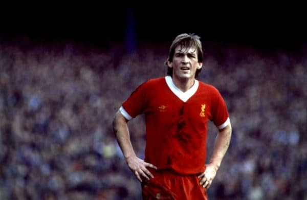 Liverpool and Scotland striker kenny Dalglish waits for the ball. He joined Liverpool from Celtic. (PA Images)