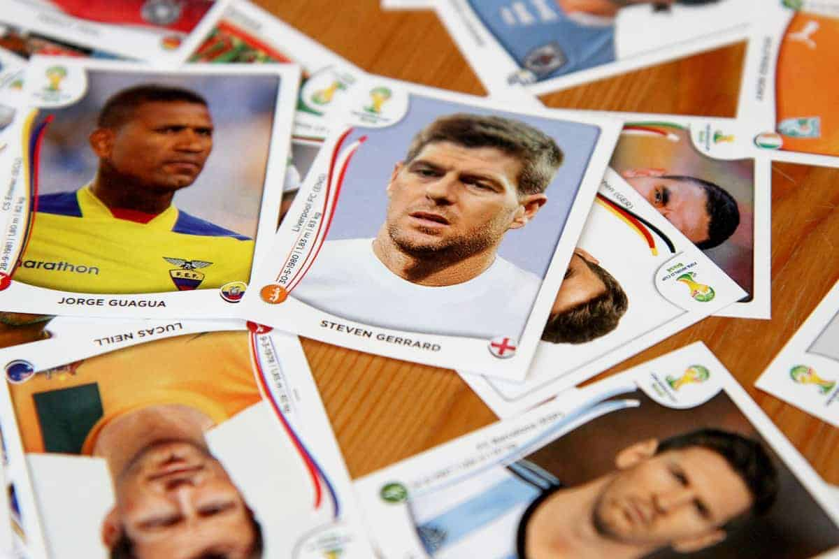 General view of stickers from the Panini FIFA World Cup 2014 Sticker Collection (Rowan Staszkiewicz/Press Association Images)