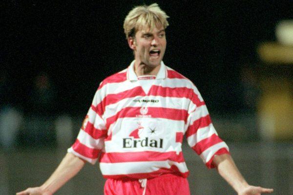 Jurgen Klopp as a player, Mainz, 1999 (Marco Kohlmeyer/DPA/PA Images)