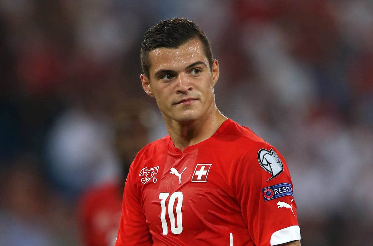 Switzerland's Granit Xhaka - Picture by: John Walton / EMPICS Sport