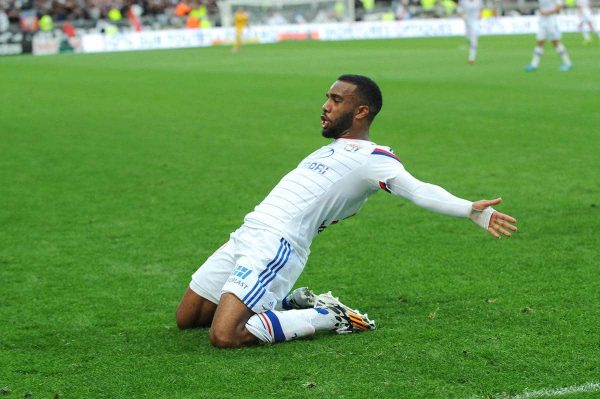 Alexandre Lacazette during the French Ligue 1 match between Lyon and Lille at the Stade de Gerland in France on October 05, 2014 (Picture by JEAN PAUL THOMAS Sportimage/PA Images)