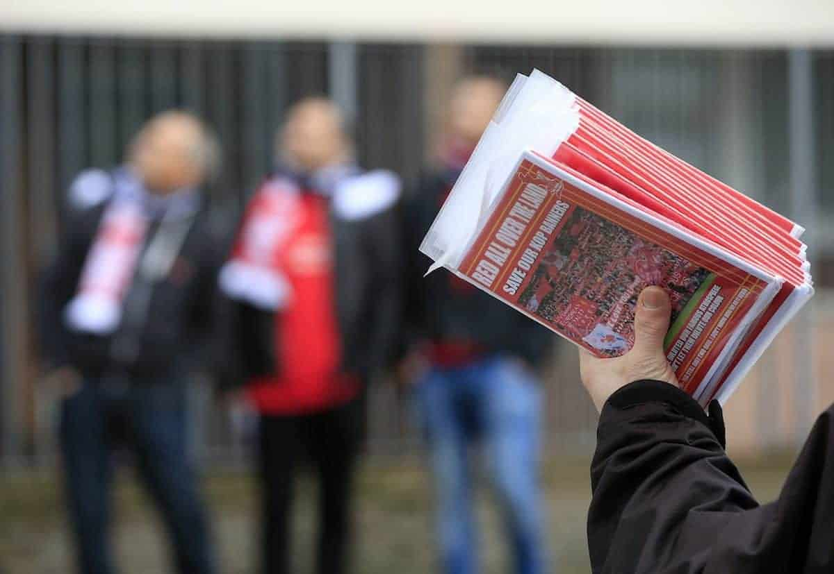 Liverpool fanzine Red All Over The Land (Jonathan Brady/PA Wire.)