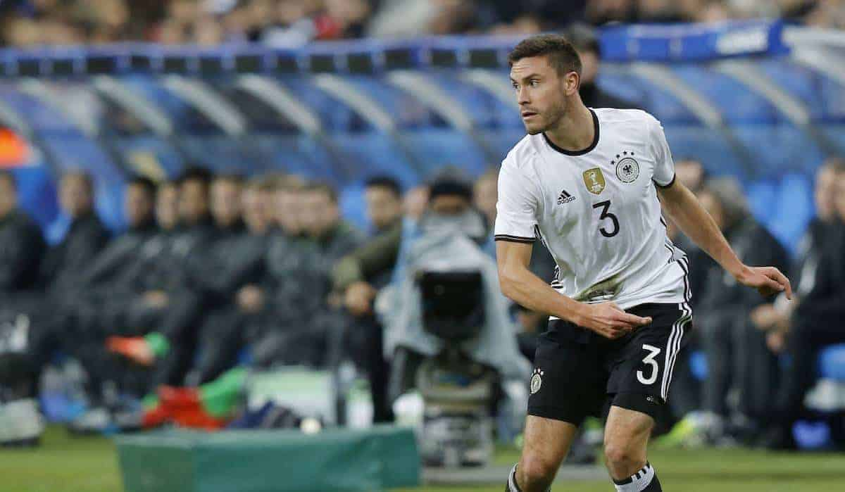 Germany's Jonas Hector controls the ball during his international friendly soccer match France against Germany at the Stade de France stadium in Saint Denis, outside Paris, Friday Nov. 13, 2015 in Paris, (AP Photo/Michel Euler)