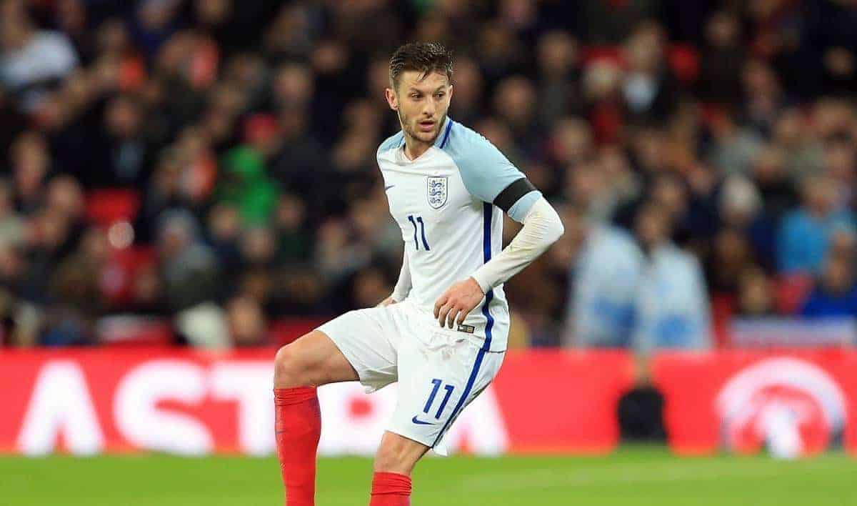 England's Adam Lallana in action during the International friendly match at Wembley. Photo credit should read: David Klein/Sportimage via PA Images