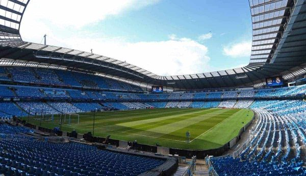 A general view ahead of kick off during the UEFA Champions League Semi Final 1st leg at the Etihad Stadium. Photo credit should read: Philip Oldham/Sportimage via PA Images