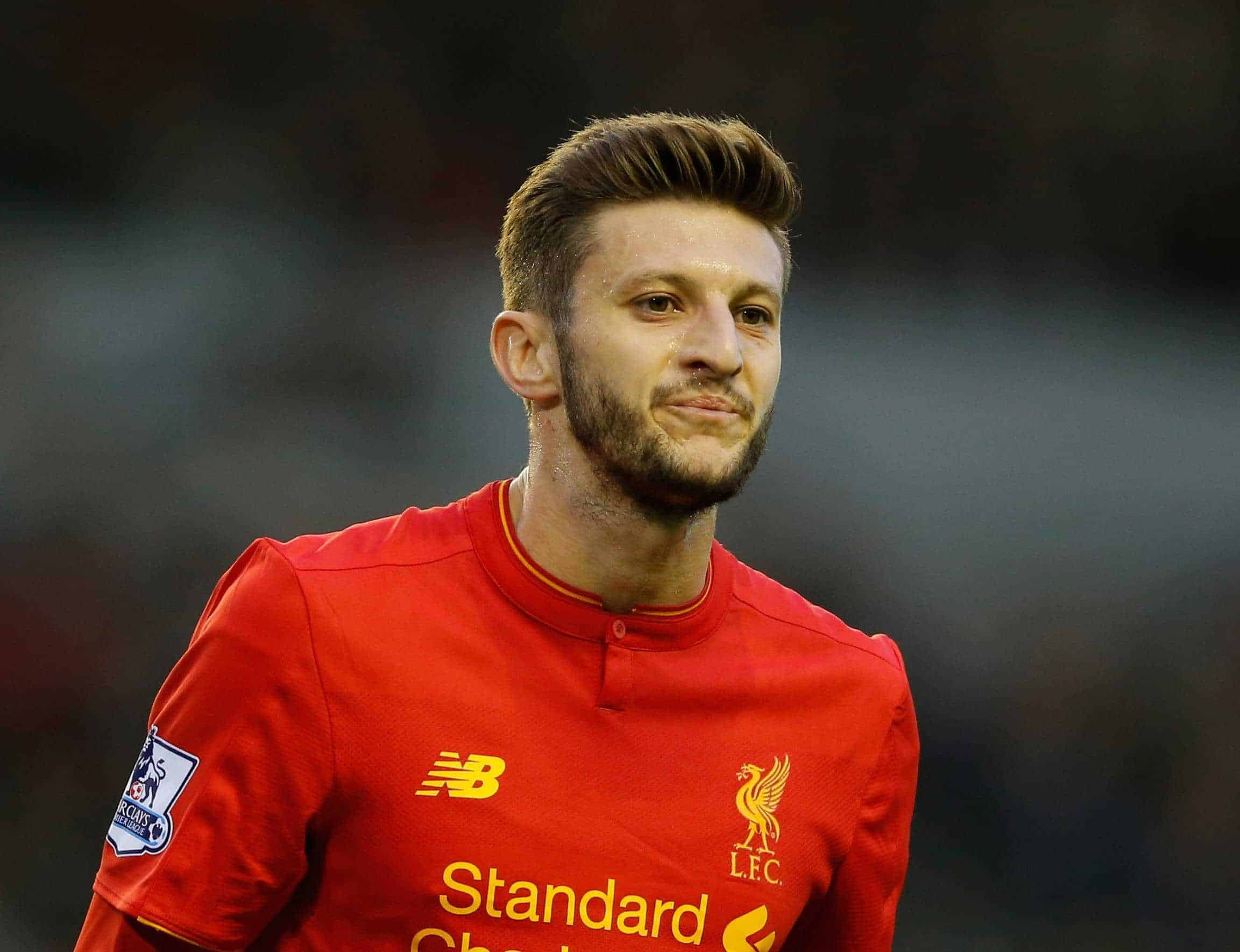 Adam Lallana of Liverpool during the Barclays Premier League match at Anfield Stadium, Liverpool. (Simon Bellis/Sportimage via PA Images)