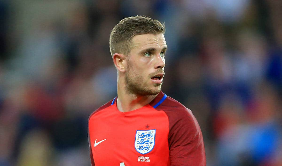 Picture by: Tim Goode / PA Wire/Press Association Images England's Jordan Henderson during the International Friendly at the Stadium of Light, Sunderland.