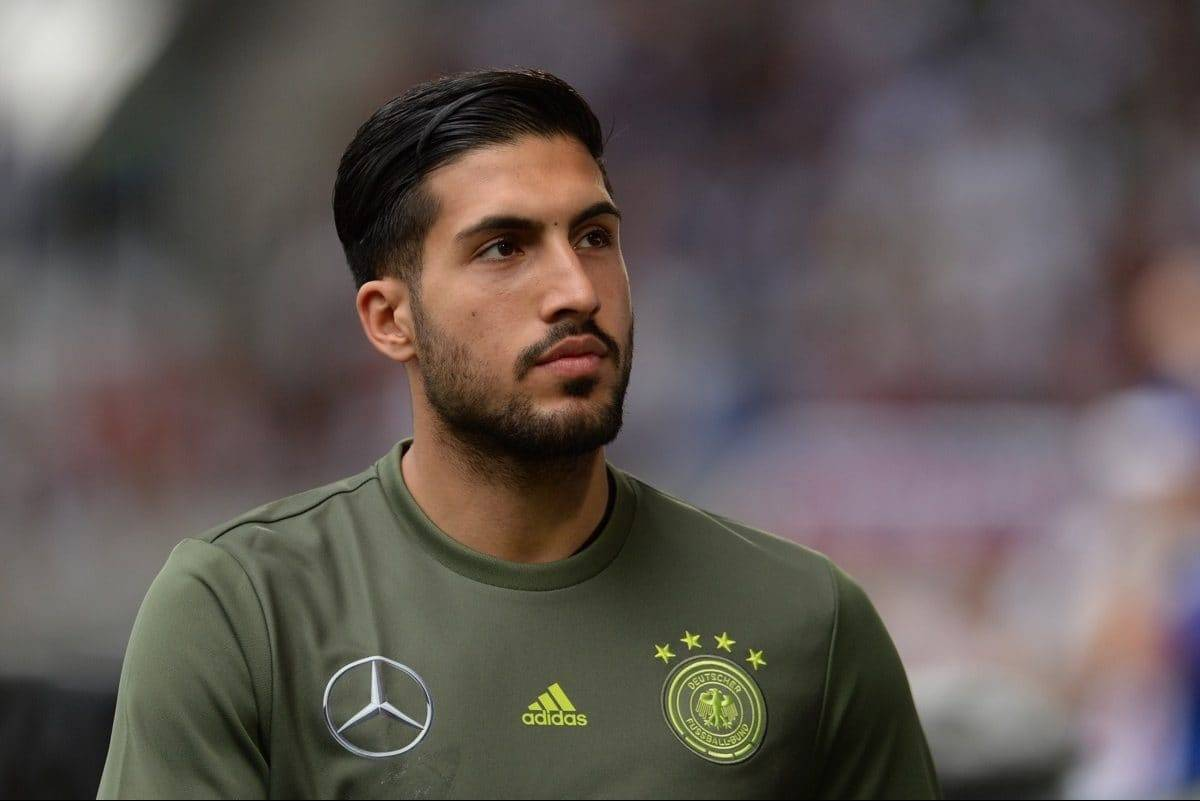 Germany's Emre Can at the international soccer match between German and Slovakia in the WWK Arena in Augsburg, Germany, 29 May 2016. Photo: ANDREAS GEBERT/dpa
