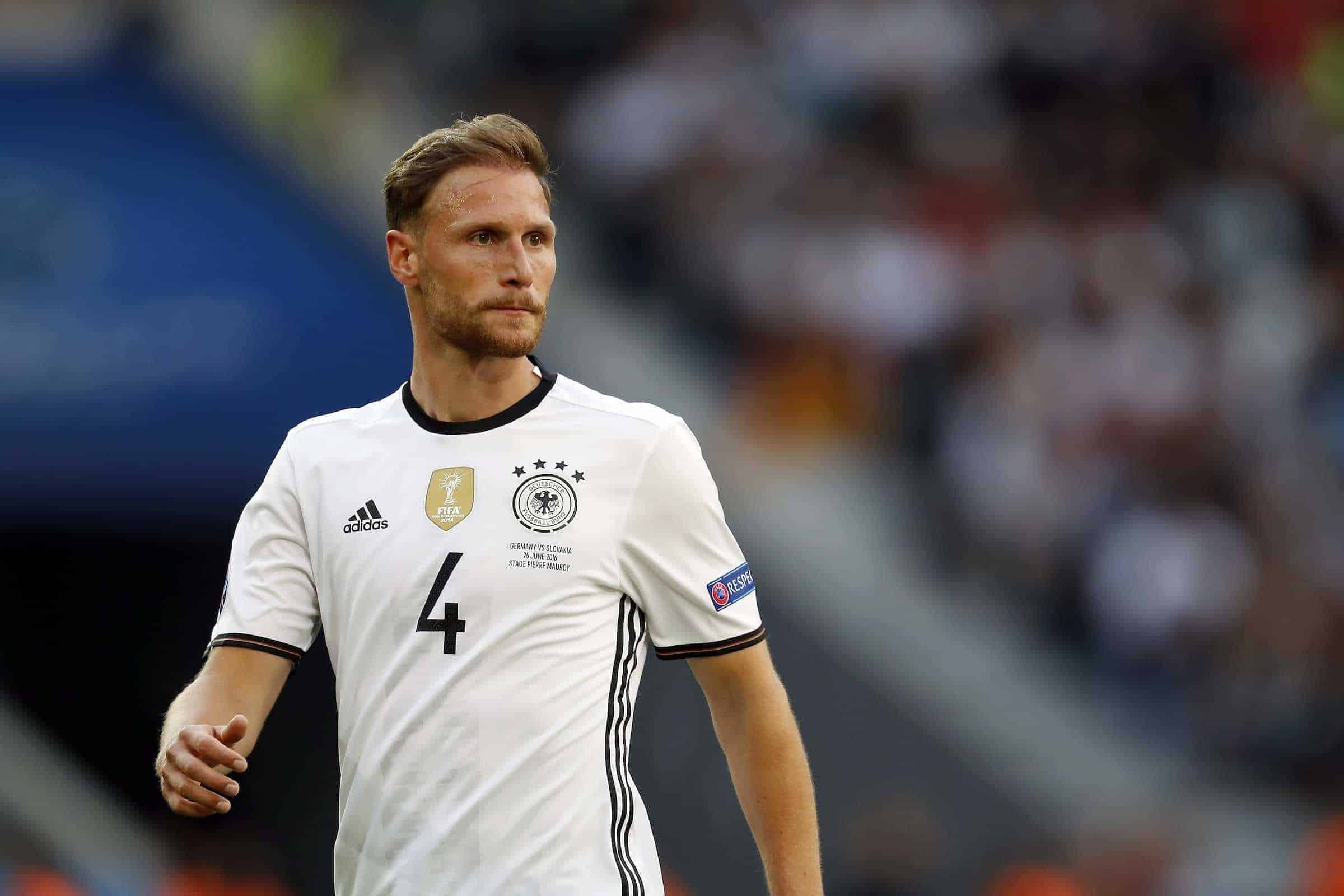 Benedikt Howedes of Germany during the UEFA Euro 2016 round of 16 match between Germany and Slovakia on June 26, 2016 at the stade Pierre-Mauloy in Lille, France. ( VI Images/VI Images/PA Images)