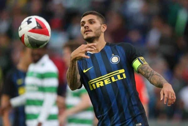 Inter Milan's Mauro Icardi during the International Champions Cup match at Thomond Park, Limerick. (Picture by Niall Carson PA Archive/PA Images)