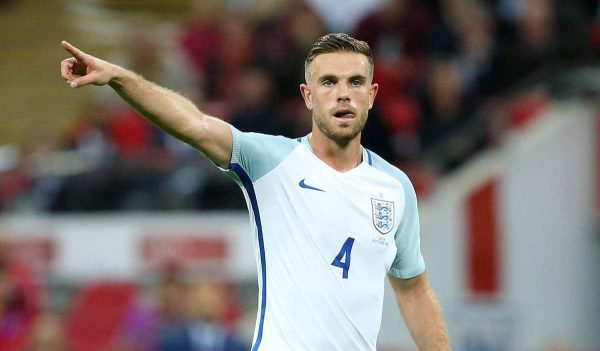 England's Jordan Henderson in action during the World Cup Qualifying Group F match at Wembley Stadium, London. Picture date October 8th, 2016 Pic David Klein/Sportimage via PA Images