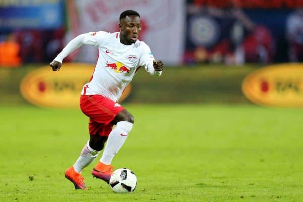 Leipzig's Naby Keita with the ball during the Bundesliga soccer match between RB Leipzig and FSV Mainz 05 at the Red Bull Arena in Leipzig, Germany, 6 November 2016. PHOTO: JAN WOITAS/dpa