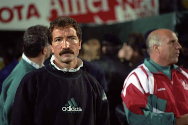 Graeme Souness, Liverpool manager, 1991 (Picture by Ross Kinnaird EMPICS Sport)