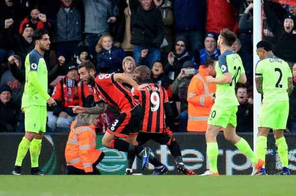 AFC Bournemouth's Steve Cook (second left) celebrates scoring his side's third goal of the game during the Premier League match at the Vitality Stadium, Bournemouth. 2016. (Picture by Adam Davy PA Wire/PA Images)