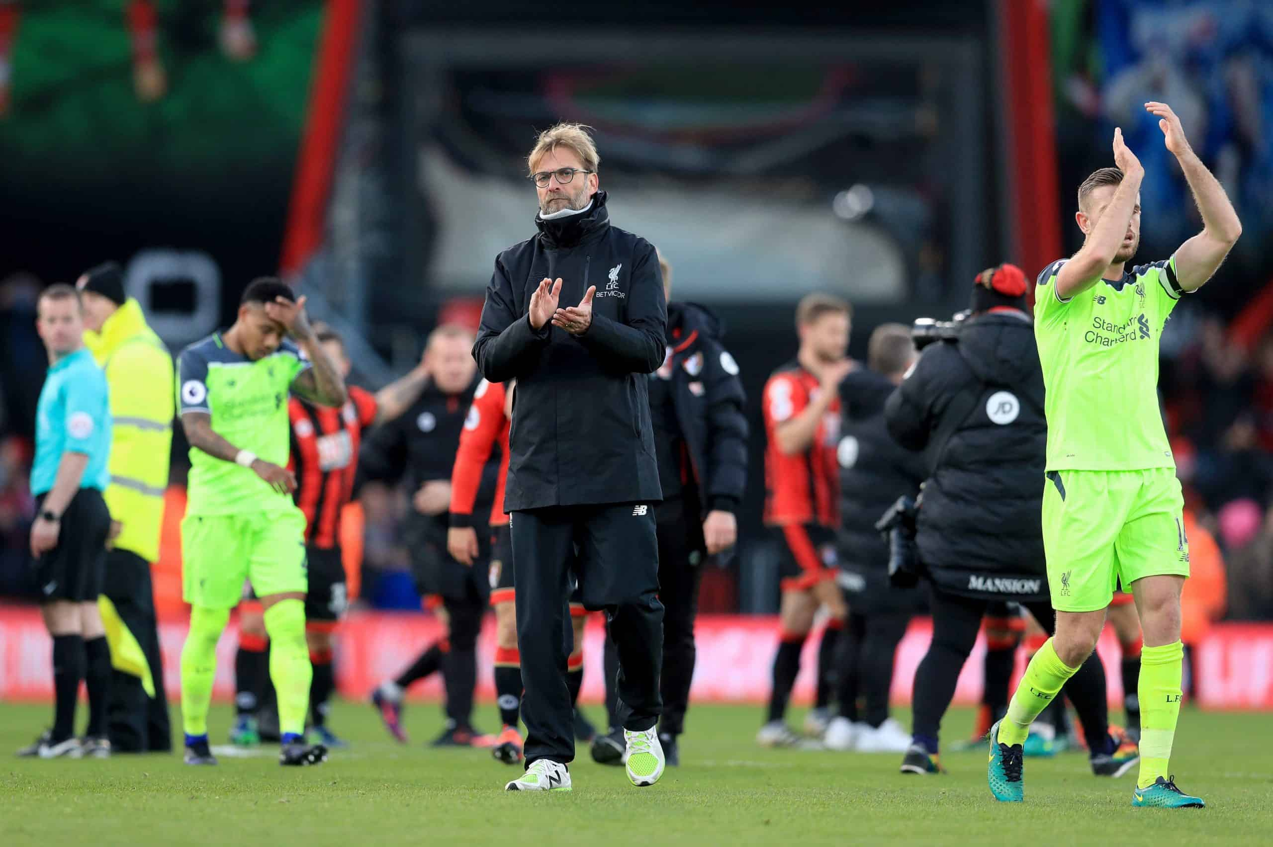 Liverpool manager Jurgen Klopp appears dejected after the final whistle during the Premier League match at the Vitality Stadium, Bournemouth. December 4 2016 (Picture by Adam Davy PA Wire/PA Images)