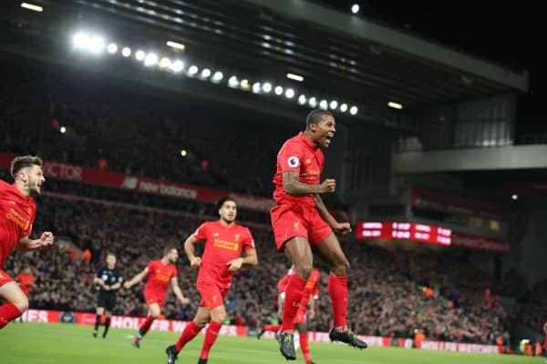 Georginio Wijnaldum vs. Man City, Anfield, December 31st 2016 Image via PA Images