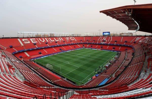 A general view of the Ramon Sanchez Pizjuan Stadium