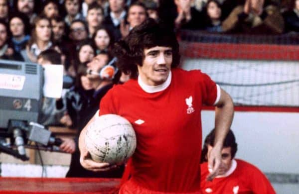 Kevin Keegan leads Liverpool out at Anfield (PA Images)
