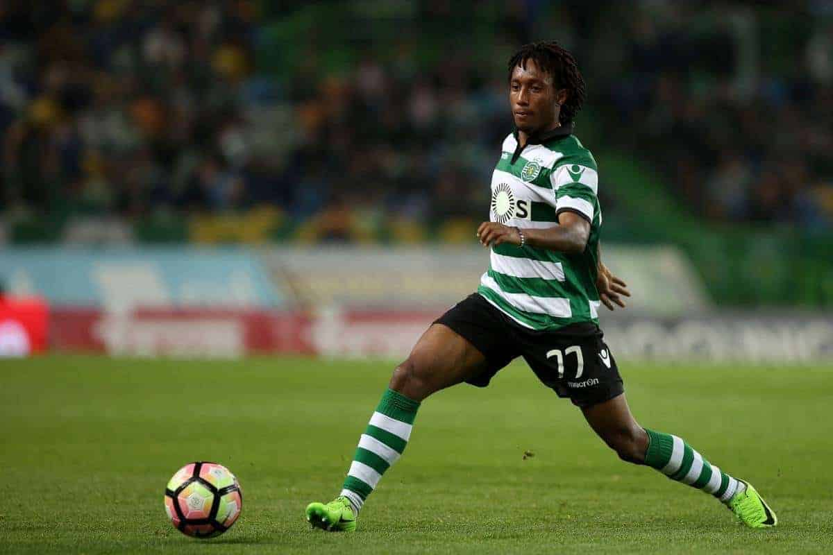 Sporting's Portuguese forward Gelson Martins in action during the Portuguese League football match Sporting CP vs Vitoria Guimaraes at Alvadade stadium in Lisbon on March 5, 2017. (Photo by Pedro Fi??za/NurPhoto) *** Please Use Credit from Credit Field ***