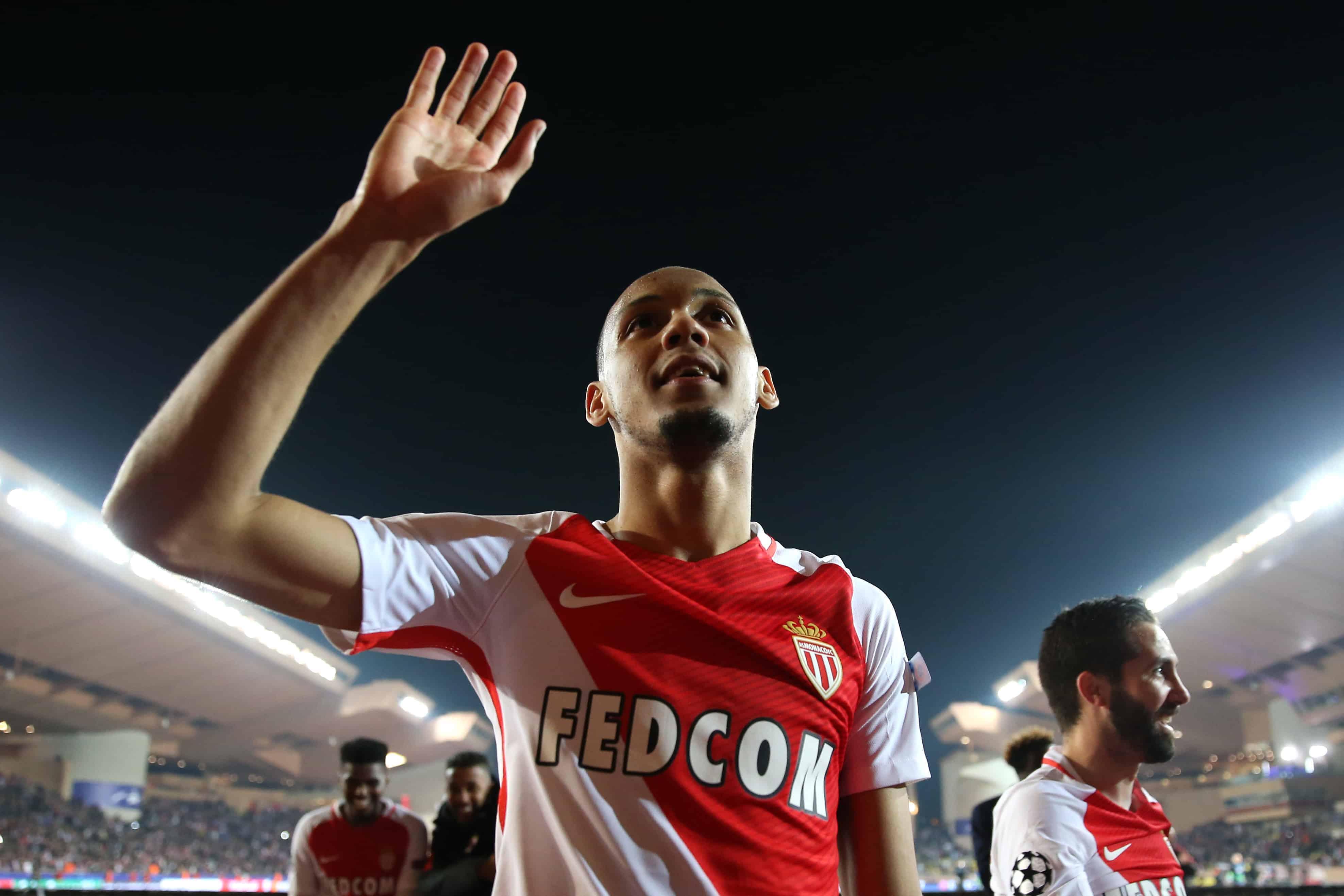 AS Monaco's Henrique Fabinho celebrates after the final whistle