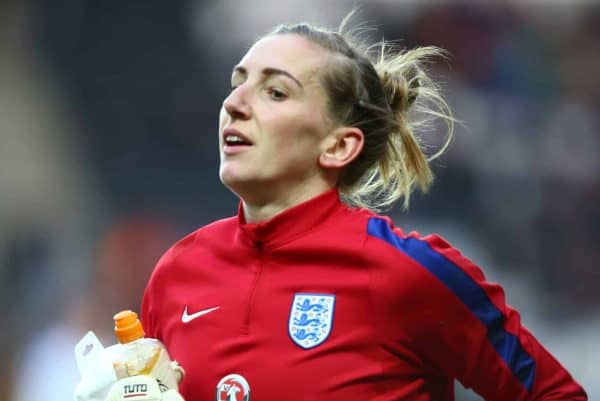 England Women's Siobhan Chamberlain (Photo by Kieran Galvin/NurPhoto)