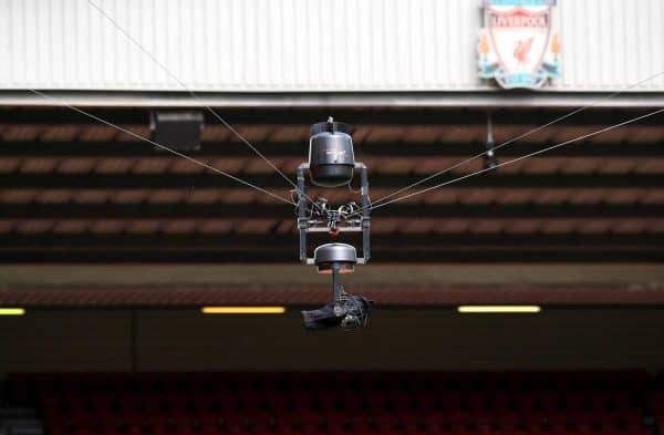 General view of a spidercam - Anfield, television camera (Peter Byrne/PA Wire.)