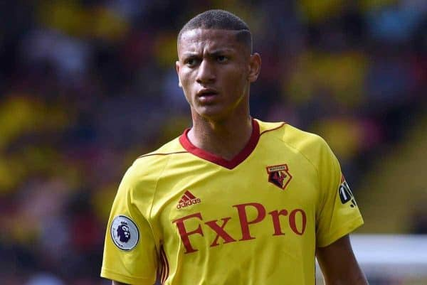 Richarlison of Watford during the premier league match at the Vicarage Road Stadium, Watford. Picture date 26th August 2017. Picture credit should read: Robin Parker/Sportimage via PA Images