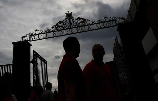 A general view outside Anfield Shankly Gates (Image: Paul Thomas/Sportimage via PA Images)