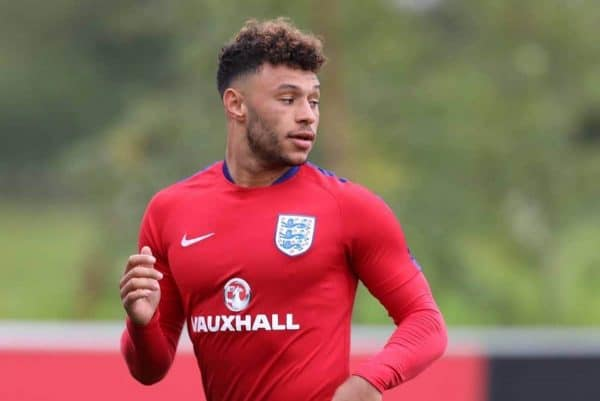 England Media Day Alex Oxlade-Chamberlain (Arsenal) during the England Media Day at St Georges Park, Burton upon Trent. (James Wilson/Imago/PA Images)